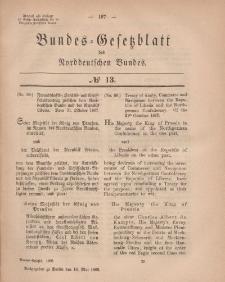 Bundes-Gesetzblatt des Norddeutschen Bundes, 1868, Nr 13.