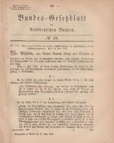 Bundes-Gesetzblatt des Norddeutschen Bundes, 1868, Nr 15.