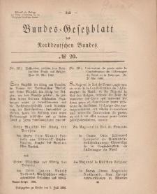 Bundes-Gesetzblatt des Norddeutschen Bundes, 1868, Nr 20.