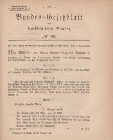 Bundes-Gesetzblatt des Norddeutschen Bundes, 1868, Nr 28.