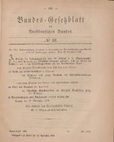 Bundes-Gesetzblatt des Norddeutschen Bundes, 1868, Nr 33.