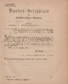 Bundes-Gesetzblatt des Norddeutschen Bundes, 1869, Nr 1.
