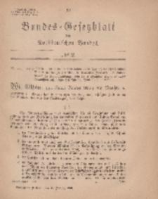 Bundes-Gesetzblatt des Norddeutschen Bundes, 1869, Nr 2.