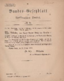Bundes-Gesetzblatt des Norddeutschen Bundes, 1869, Nr 3.