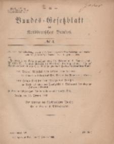 Bundes-Gesetzblatt des Norddeutschen Bundes, 1869, Nr 4.