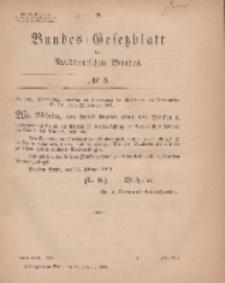 Bundes-Gesetzblatt des Norddeutschen Bundes, 1869, Nr 5.