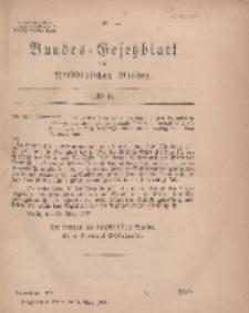Bundes-Gesetzblatt des Norddeutschen Bundes, 1869, Nr 6.