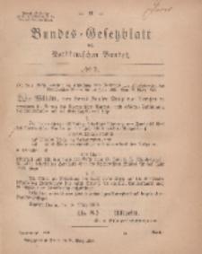 Bundes-Gesetzblatt des Norddeutschen Bundes, 1869, Nr 7.