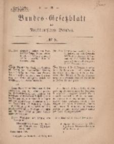 Bundes-Gesetzblatt des Norddeutschen Bundes, 1869, Nr 8.