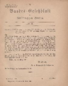 Bundes-Gesetzblatt des Norddeutschen Bundes, 1869, Nr 9.