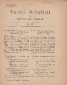 Bundes-Gesetzblatt des Norddeutschen Bundes, 1869, Nr 10.