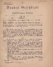 Bundes-Gesetzblatt des Norddeutschen Bundes, 1869, Nr 11.