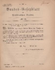 Bundes-Gesetzblatt des Norddeutschen Bundes, 1869, Nr 12.