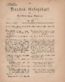 Bundes-Gesetzblatt des Norddeutschen Bundes, 1869, Nr 13.