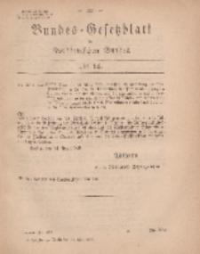 Bundes-Gesetzblatt des Norddeutschen Bundes, 1869, Nr 14.