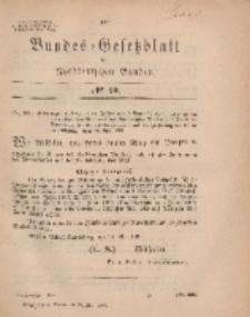 Bundes-Gesetzblatt des Norddeutschen Bundes, 1869, Nr 15.