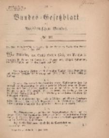 Bundes-Gesetzblatt des Norddeutschen Bundes, 1869, Nr 16.