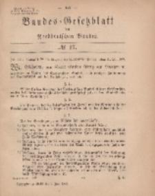 Bundes-Gesetzblatt des Norddeutschen Bundes, 1869, Nr 17.