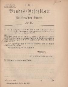 Bundes-Gesetzblatt des Norddeutschen Bundes, 1869, Nr 18.