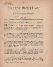 Bundes-Gesetzblatt des Norddeutschen Bundes, 1869, Nr 19.