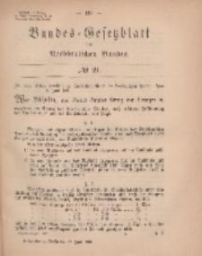 Bundes-Gesetzblatt des Norddeutschen Bundes, 1869, Nr 21.
