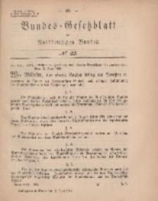 Bundes-Gesetzblatt des Norddeutschen Bundes, 1869, Nr 22.