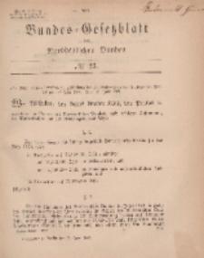 Bundes-Gesetzblatt des Norddeutschen Bundes, 1869, Nr 23.