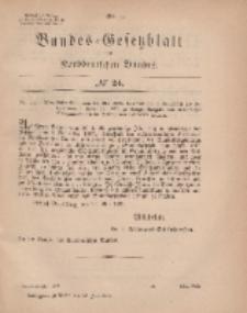 Bundes-Gesetzblatt des Norddeutschen Bundes, 1869, Nr 24.