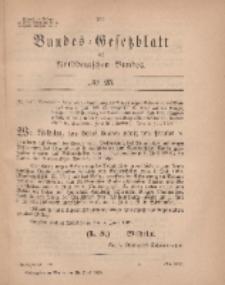 Bundes-Gesetzblatt des Norddeutschen Bundes, 1869, Nr 25.