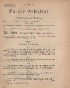 Bundes-Gesetzblatt des Norddeutschen Bundes, 1869, Nr 26.