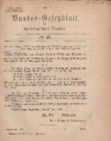 Bundes-Gesetzblatt des Norddeutschen Bundes, 1869, Nr 28.