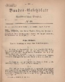 Bundes-Gesetzblatt des Norddeutschen Bundes, 1869, Nr 29.