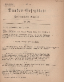 Bundes-Gesetzblatt des Norddeutschen Bundes, 1869, Nr 30.