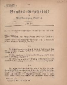 Bundes-Gesetzblatt des Norddeutschen Bundes, 1869, Nr 31.