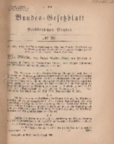 Bundes-Gesetzblatt des Norddeutschen Bundes, 1869, Nr 32.