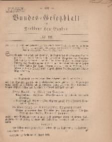 Bundes-Gesetzblatt des Norddeutschen Bundes, 1869, Nr 33.