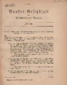 Bundes-Gesetzblatt des Norddeutschen Bundes, 1869, Nr 34.