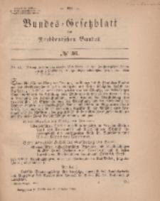 Bundes-Gesetzblatt des Norddeutschen Bundes, 1869, Nr 36.