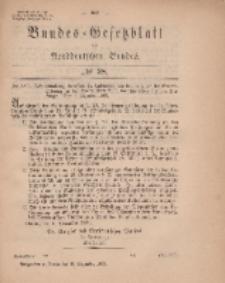 Bundes-Gesetzblatt des Norddeutschen Bundes, 1869, Nr 38.