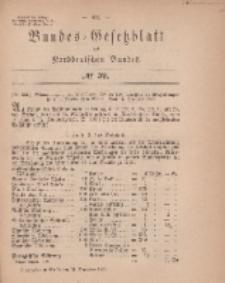 Bundes-Gesetzblatt des Norddeutschen Bundes, 1869, Nr 39.