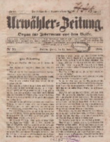Urwähler-Zeitung : Organ für Jedermann aus dem Volke, Freitag, 31. Januar 1851, Nr. 26.