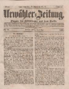 Urwähler-Zeitung : Organ für Jedermann aus dem Volke, Freitag, 4. April 1851, Nr. 79.