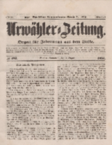 Urwähler-Zeitung : Organ für Jedermann aus dem Volke, Sonnabend, 9. August 1851, Nr. 182.