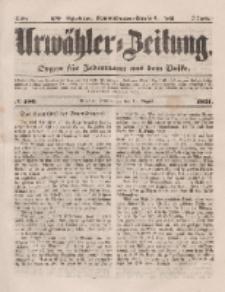Urwähler-Zeitung : Organ für Jedermann aus dem Volke, Donnerstag, 14. August 1851, Nr. 186.