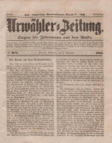 Urwähler-Zeitung : Organ für Jedermann aus dem Volke, Mittwoch, 3. September 1851, Nr. 203.