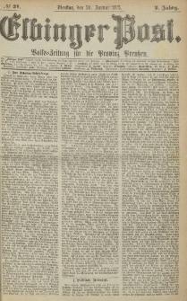 Elbinger Post, Nr. 21, Dienstag 26 Januar 1875, 2 Jh