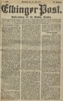 Elbinger Post, Nr. 161, Mittwoch 14 Juli 1875, 2 Jh