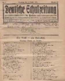 Deutsche Schulzeitung in Polen, 14. Jahrgang. 15. Oktober 1933, Nr 1.