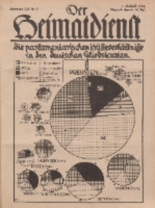 Der Heimatdienst : Mitteilungen der Reichszentrale für Heimatdienst, 12. Jahrgang, 1. Maiheft 1932, Nr 9.