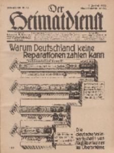 Der Heimatdienst : Mitteilungen der Reichszentrale für Heimatdienst, 12. Jahrgang, 2. Juniheft 1932, Nr 12.